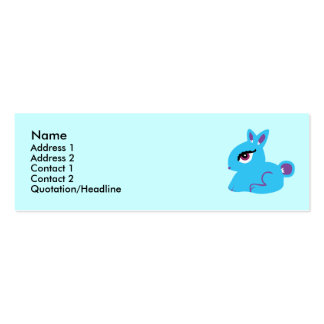 Blue Bunny Profile Cards Pack Of Skinny Business Cards