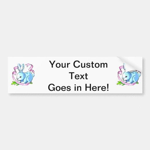 blue bunny purple ribbon.png bumper sticker