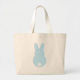 Blue Bunny Rabbit Tote Bags
