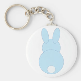 Blue Bunny Rabbit Key Chain