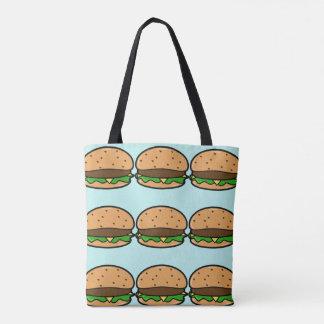 Blue Burger Tote Bag