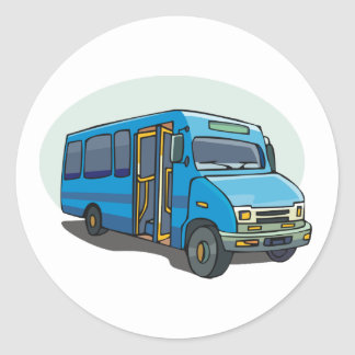 Blue Bus Stickers
