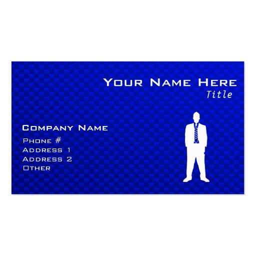Blue Business Suit Business Cards