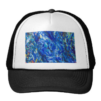 Blue Bust (abstract expressionism) Cap