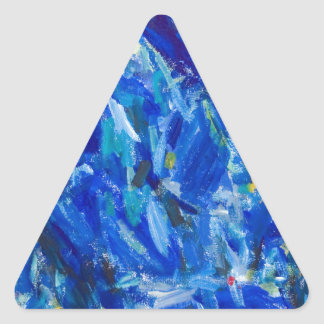 Blue Bust (abstract expressionism) Sticker