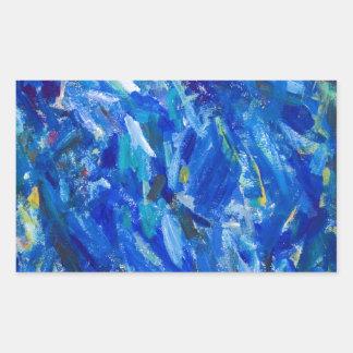 Blue Bust (abstract expressionism) Rectangular Sticker