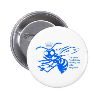 Blue Busy Bee Buttons