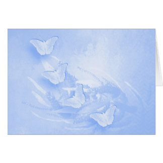 Blue butterflies and wattle horizontal card