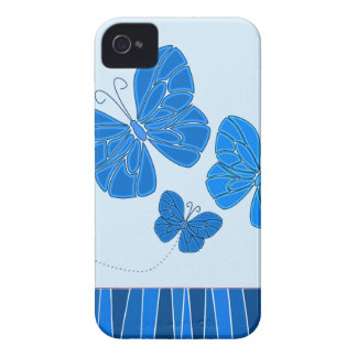 Blue butterflies BlackBerry Bold Case