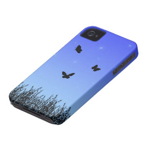 Blue Butterflies BlackBerry Bold Case-Mate Barely
