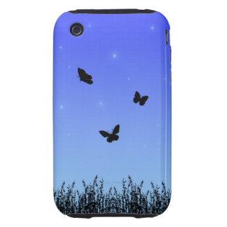 Blue Butterflies iPhone 3G 3GS Case-Mate Tough™ Tough iPhone 3 Case