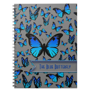 blue butterflies notebook