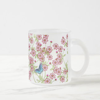 Blue Butterflies on Coreopsis Garden Flowers Mug