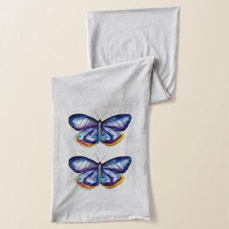 Blue Butterflies Spring Mood Art Jersey Scarf