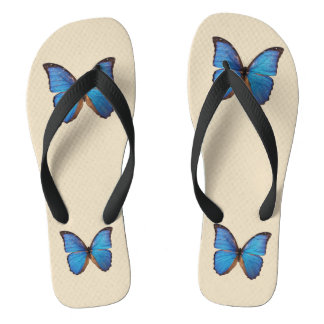 Blue Butterflies Thongs