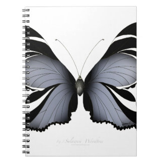 Blue Butterfly 3 Sulawesi Woodtree Spiral Notebook