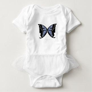 Blue Butterfly 4 Blue Marsh Maid Baby Bodysuit