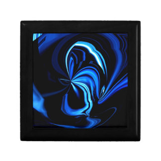 Blue Butterfly Abstract Gift Box