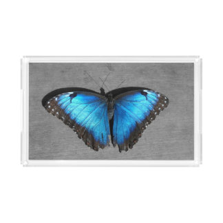 Blue Butterfly Acrylic Tray