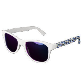 Blue Butterfly Adult Retro Party Sunglasses