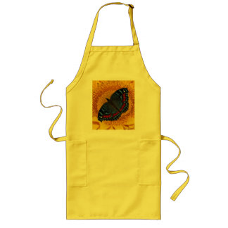 Blue butterfly and the sunflower long apron