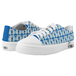 Blue Butterfly Awareness Ribbon Custom Sneakers