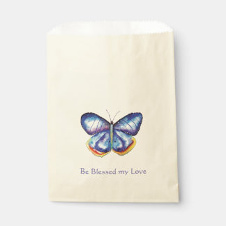 Blue Butterfly Blessings Love Favour Bag