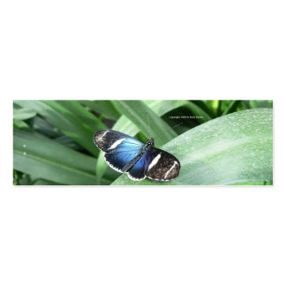 Blue Butterfly Bookmark Pack Of Skinny Business Cards