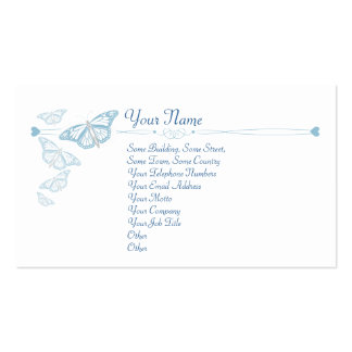 Blue Butterfly Business Cards