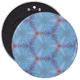 Blue Butterfly Caleidoscopic Pattern 6 Cm Round Badge
