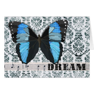 Blue  Butterfly Dream Greeting Cards