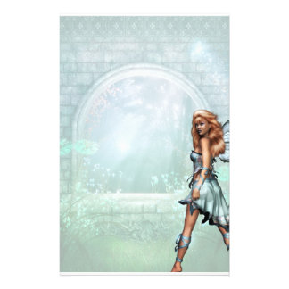 Blue Butterfly Fairy Stationery