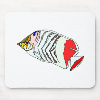 Blue Butterfly Fish Mouse Pads