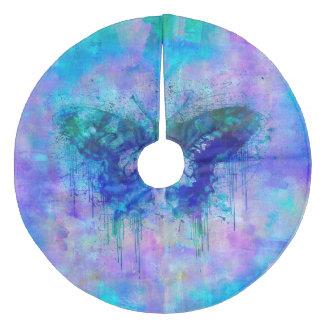 Blue Butterfly Fleece Tree Skirt