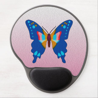 Blue Butterfly Gel Mouse Pad