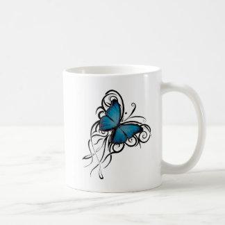 Blue Butterfly Grunge Classic Mug