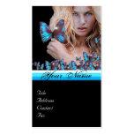 BLUE BUTTERFLY HAIR BEAUTY MAKEUP ARTIST monogram