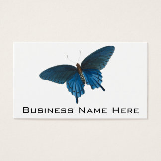 Blue Butterfly Illustration Business Card
