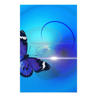 Blue Butterfly Image Stationery Design