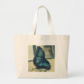 Blue Butterfly Large Tote Bag