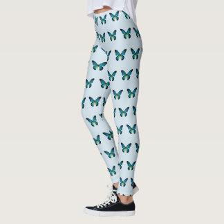 Blue Butterfly Leggings