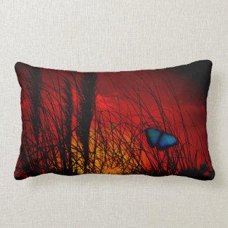 Blue Butterfly Lumbar Cushion