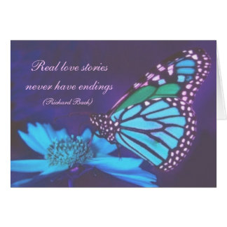 Blue Butterfly Mother's Day Card