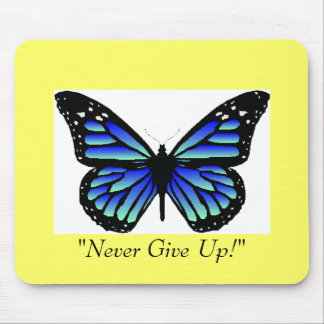 blue butterfly, mouse pad
