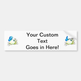 blue butterfly on white egg.png bumper sticker
