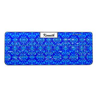 Blue Butterfly Pattern by Kenneth Yoncich Wireless Keyboard