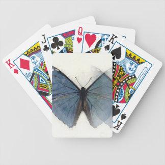 Blue Butterfly Poker Deck