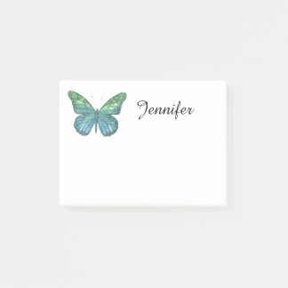Blue Butterfly Post-it Notes