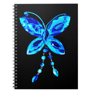 Blue Butterfly Prism Notebook