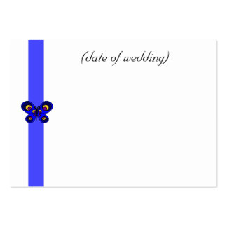 Blue Butterfly Ribbon Guest Place Name Card Business Cards